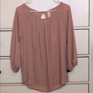 EUC blush pink blouse